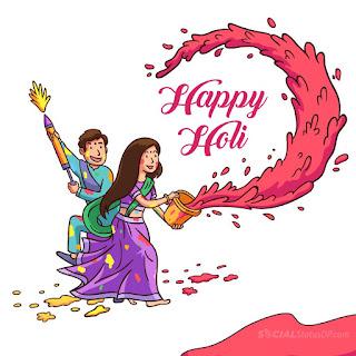 Happy Holi Whatsapp Status in Hindi English