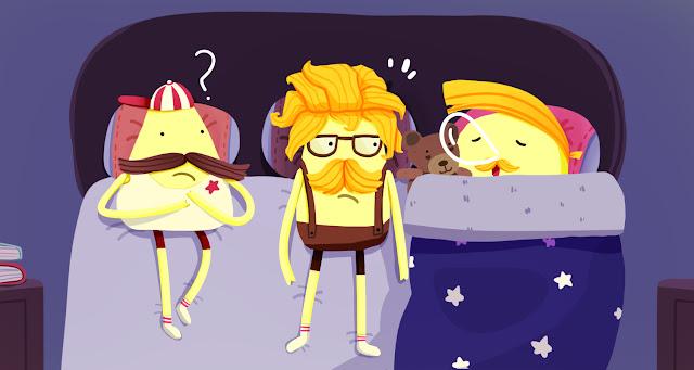 Hello Yellow Friends Comic - My warmest quilt.