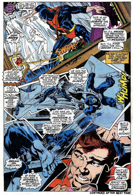 X-men v1 #58 marvel comic book page art by Neal Adams