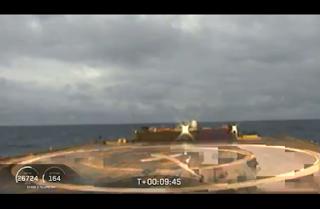 SpaceX Falcon Heavy centre rocket landing