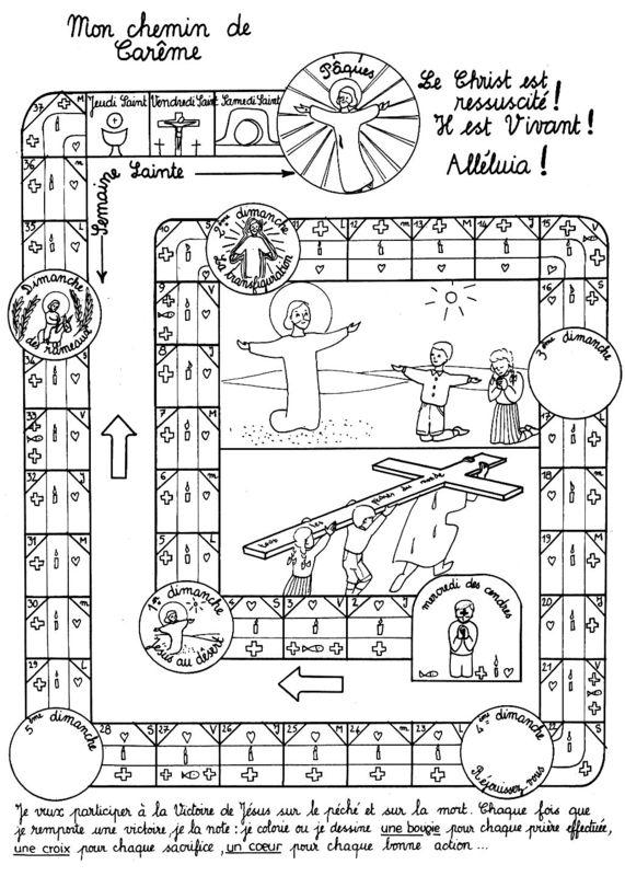 """Résultat de recherche d'images pour """"jeu de l'oie du Carême"""""""