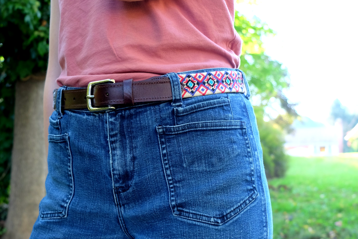 Good Threads fair trade needlepoint collars and belts - fair trade dog