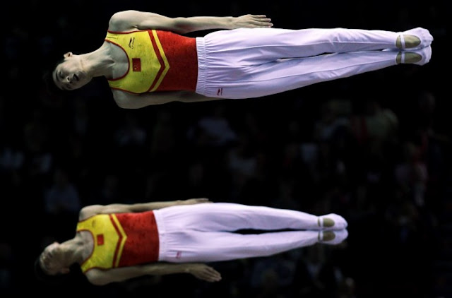Chinese Trampoline Gymnasts Tu Xiao and Dong Dong