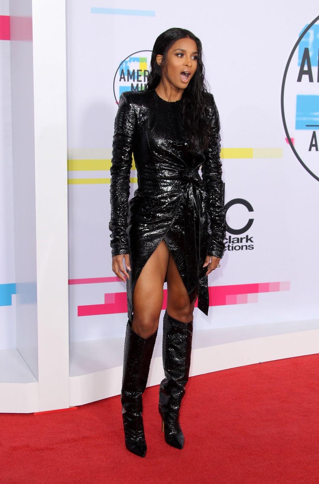 Photos of Ciara at American Music Awards 2017 at Microsoft Theater in Los Angeles