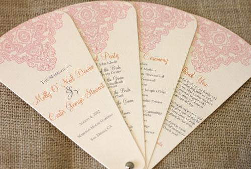 Blush Paperie New Wedding Program Fan Designs