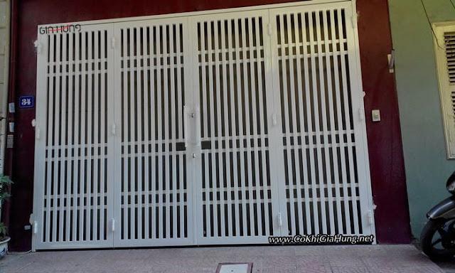 mẫu cửa cổng sắt hộp 4 cánh đẹp như này giá như thế nào?