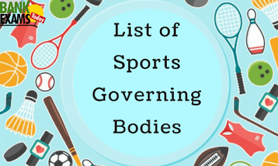 List of Sports Governing Bodies