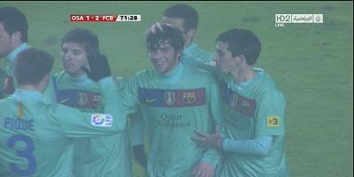 Copa Del Rey : Osasuna 1 vs 2 Barcelona 12-01-2012