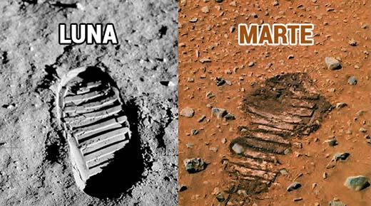 Huella descubierta en Marte demuestra que los astronautas ya han visitado el planeta