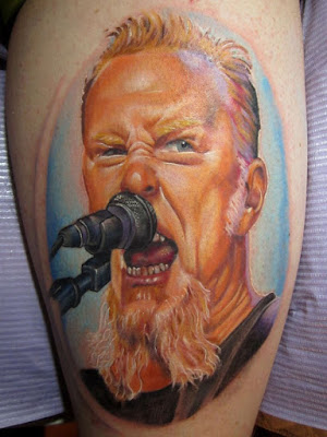 Tatuajes de Metallica : Tatuaje de James Hetfield