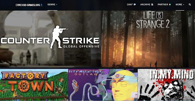 tampilan situs Cracked Games