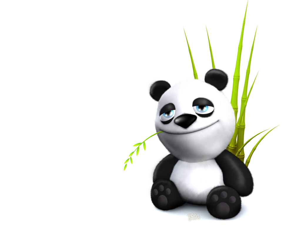 Funny cartoon panda wallpaper  Funny Animal