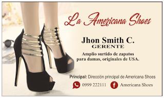 Tarjetas de presentación calzado de mujer