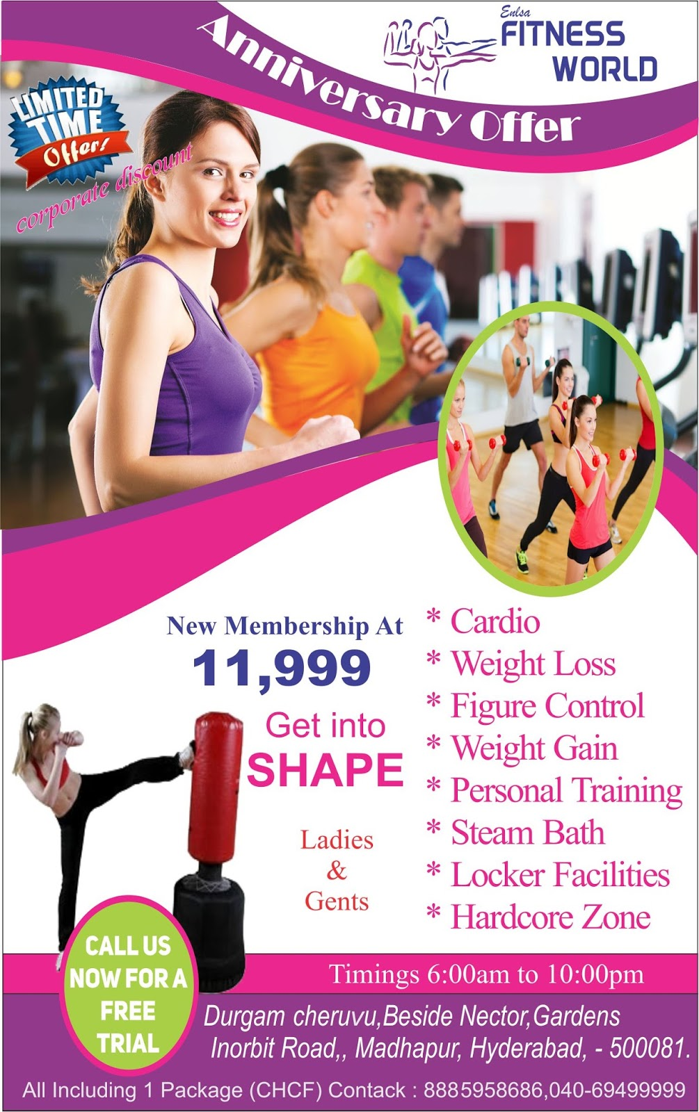 fitness world flyer design harshini creative graphics