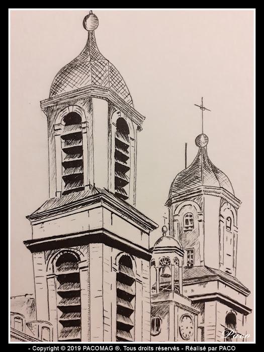 vue approché des tours de l'Église Saint-Charles de Sedan