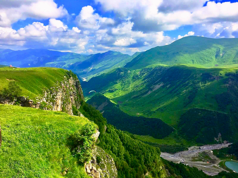 Kazbegi Mountains in Georgia