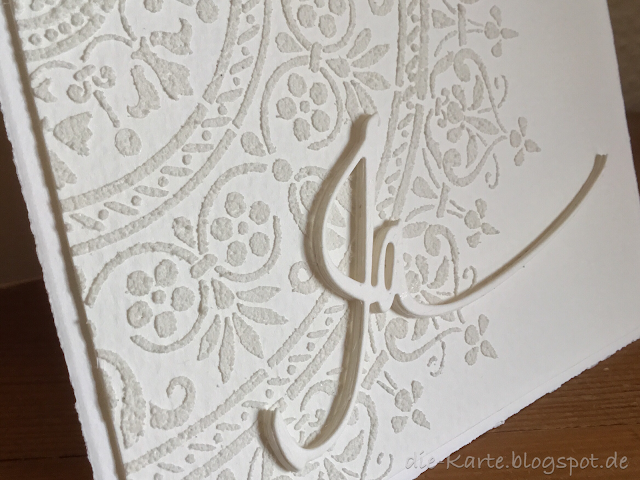"Hochzeitskarte,  ""Ja"" Stanze Alexandra Renke,  Stencil Mandala"