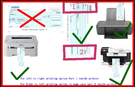How to Print on Cheque in Printer