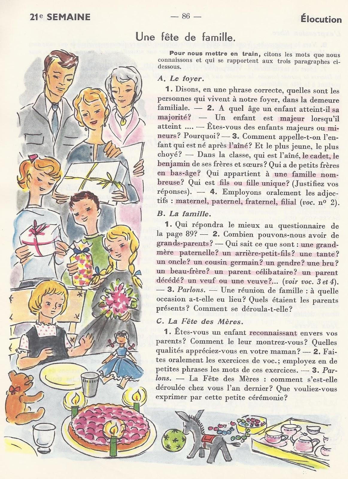 Manuels Anciens Berthou Vocabulaire Ce Cm 21 Une Fete De