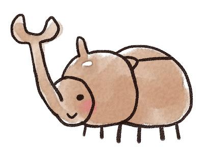 カブトムシのイラスト(虫)