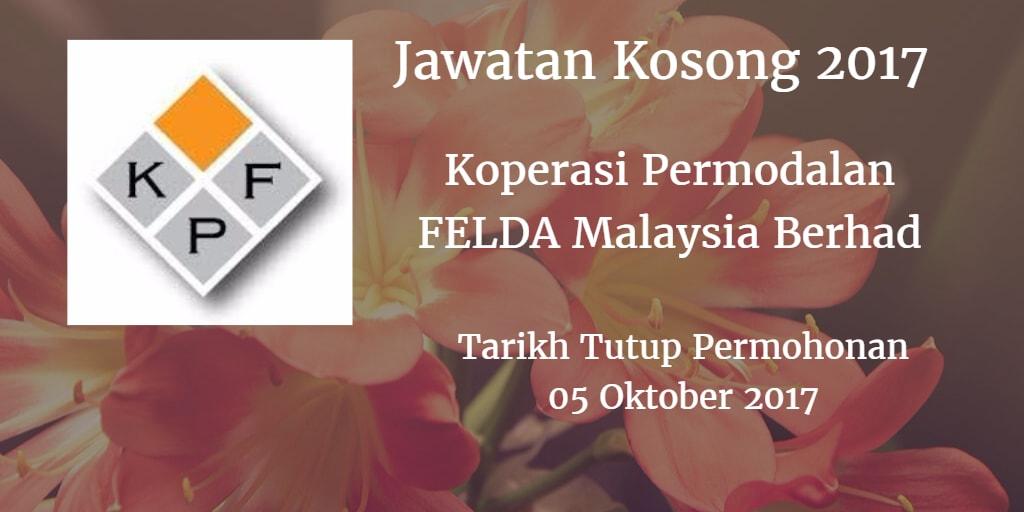 Jawatan Kosong Koperasi Permodalan FELDA Malaysia Berhad 05 Oktober 2017