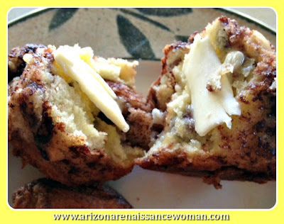 Banana Nutella Muffins with Toasted Hazelnuts - with Butter