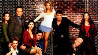 """Photo d'une partie des acteurs de """"Buffy contre les Vampires"""""""