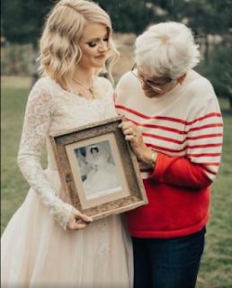 bride surprises grandmother