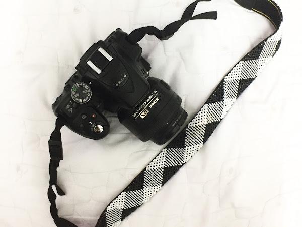 A handmade camera strap