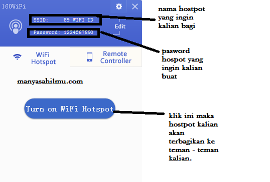 Cara membuat hotspot Leptop Menyambung Ke HP