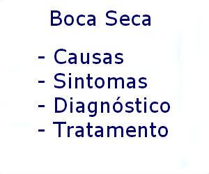 Boca seca causas sintomas diagnóstico tratamento prevenção