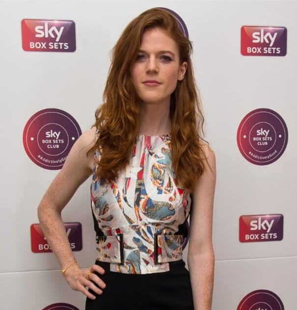 Rose Leslie in Tessa Packard for VIP Launcch Sky Box Sets Club