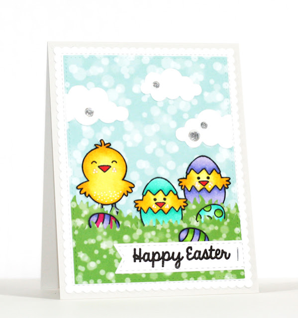 Sunny Studio Stamps: A Good Egg Easter Chick card by Stephanie Klauck.
