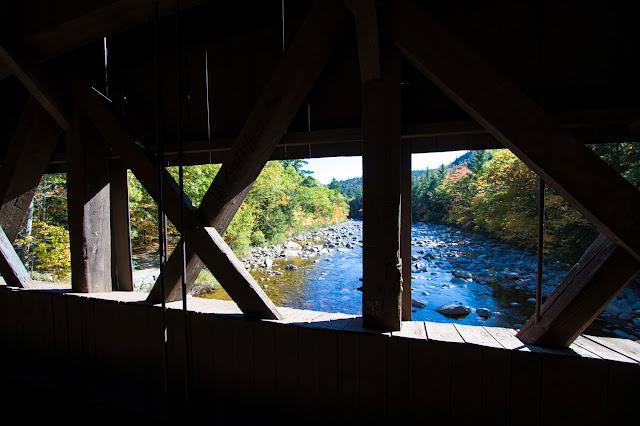 Foliage e ponte coperto-Kancamagus Hwy e White mountains