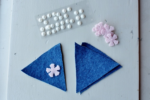 A Spring Bunting Made with Denim