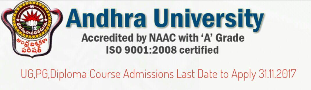 Andhra University announces Distance Education Admissions