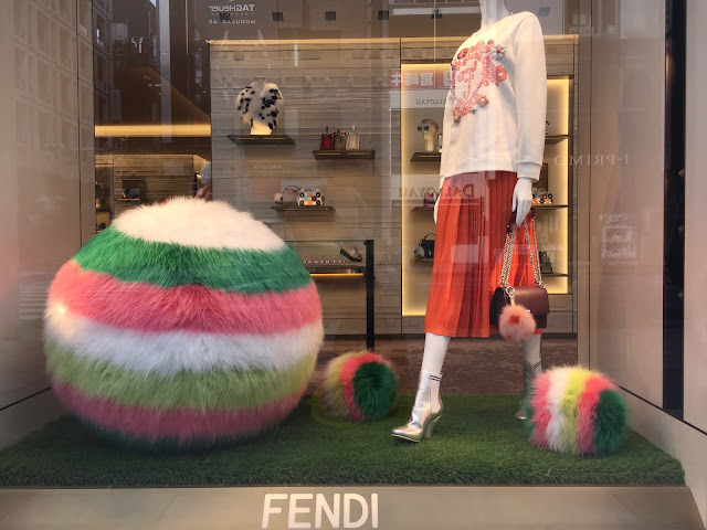 Window display at Fendi, Ginza