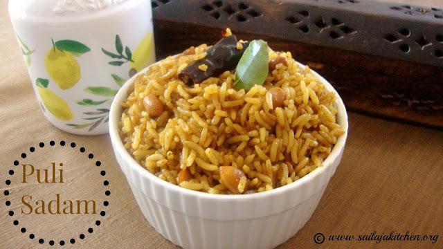 images of Puli Sadam / Tamarind Rice / Puli Chadam / Thalicha Puli Sadam - Quick Tamarind Rice