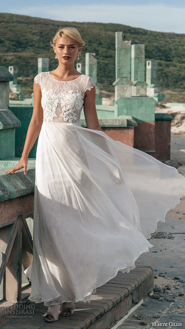 Most Comfortable Beach Natural Wedding Dresses