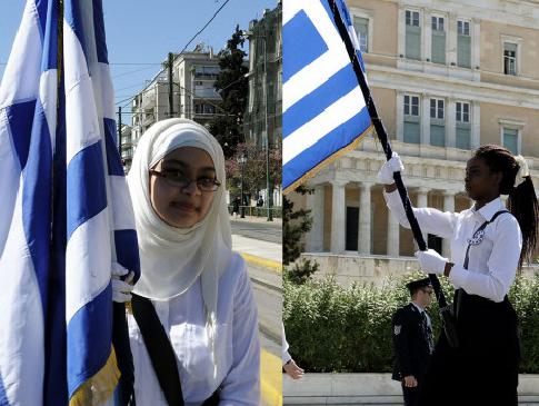 Παρέλαση 25ης Μαρτίου: Οι δυο σημαιοφόροι που ξεχώρισαν