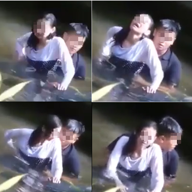 SHOCKING! This Couple Was Caught in the River Doing Something Unbelievable While Wading in the River!