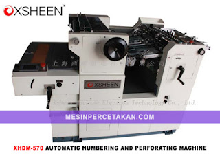 Numbering-Perforating Machine Xsheen