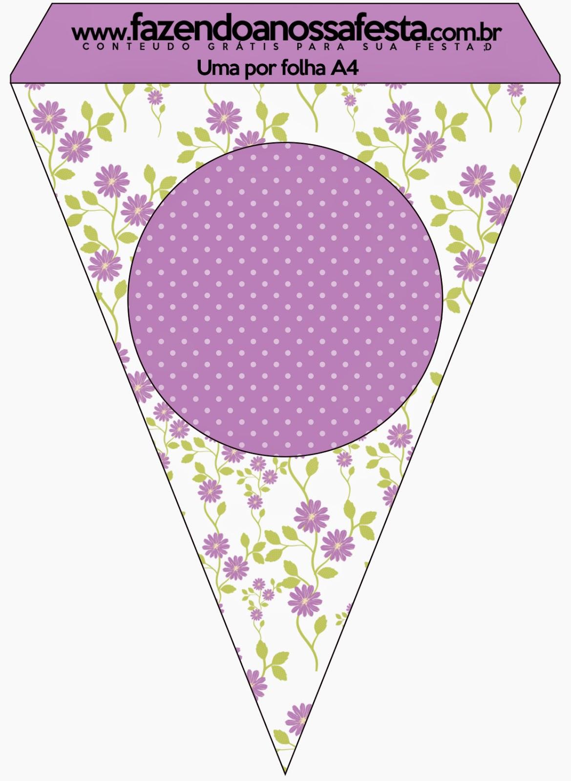 Para Banderines de Flores Moradas.