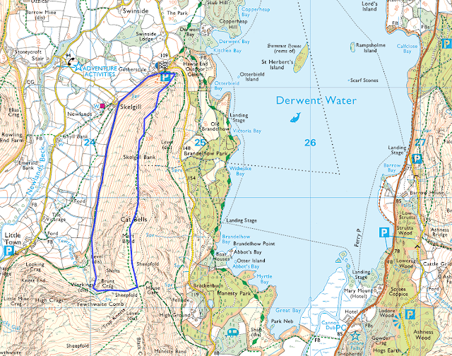 Cat Bells, easy, quick, Catbells, walk, Keswick, Derwent Water, Lakes, Lake District, map, route, best views