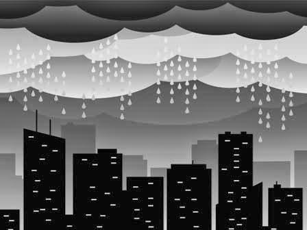 Rumah Kardus & Hujan Gelembung