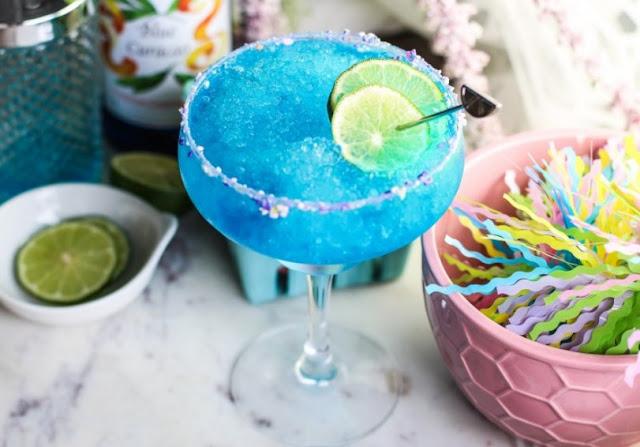 Virgin Blue Margarita #drink #nonalcohol