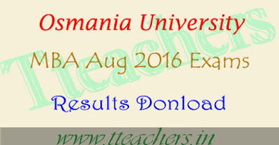 OU MBA Aug 2016 Results osmania M.B.A result 2017 manabadi