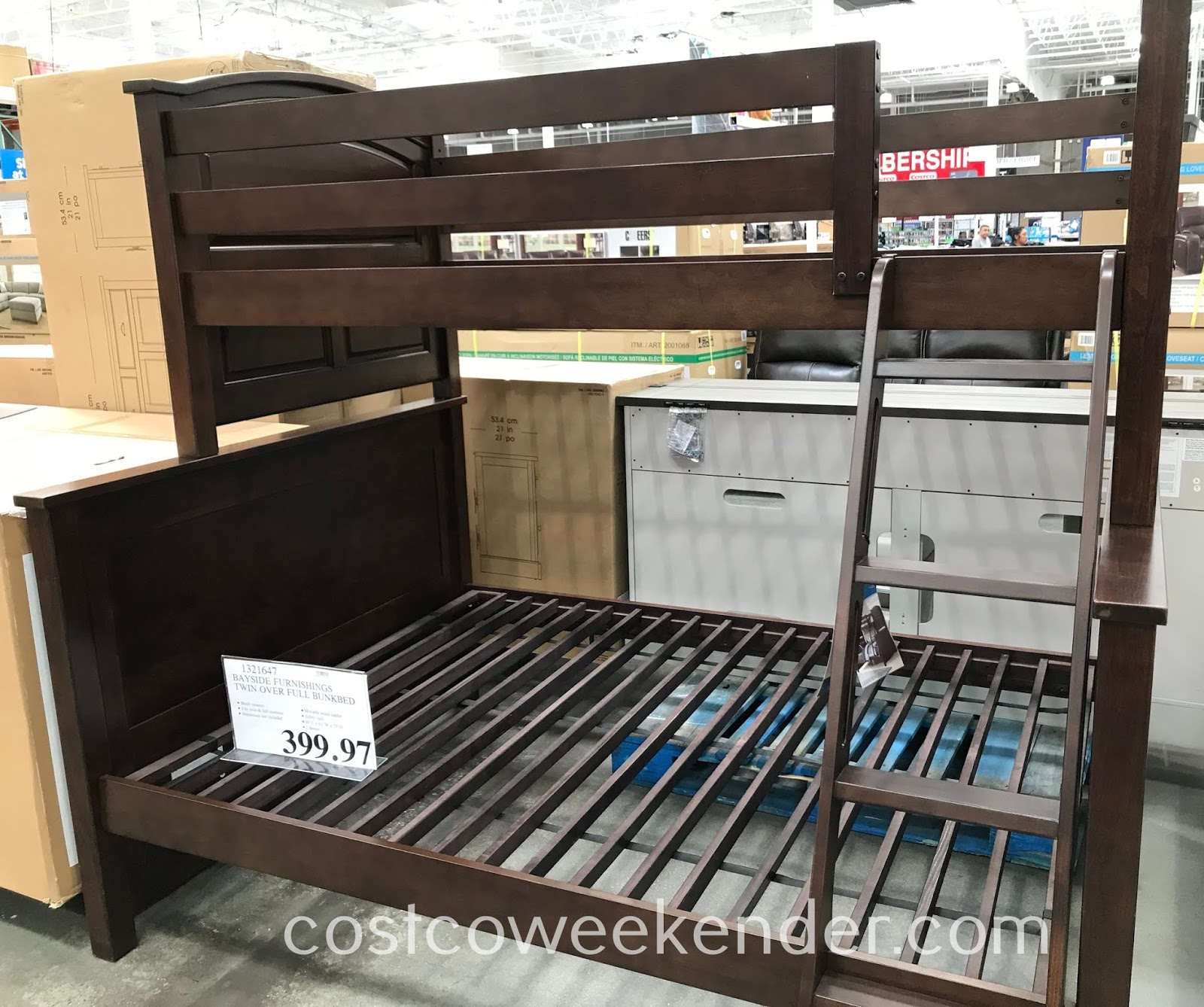 If you have an older and younger child, consider the Whalen Bayside Furnishings Twin Over Full Bunk Bed