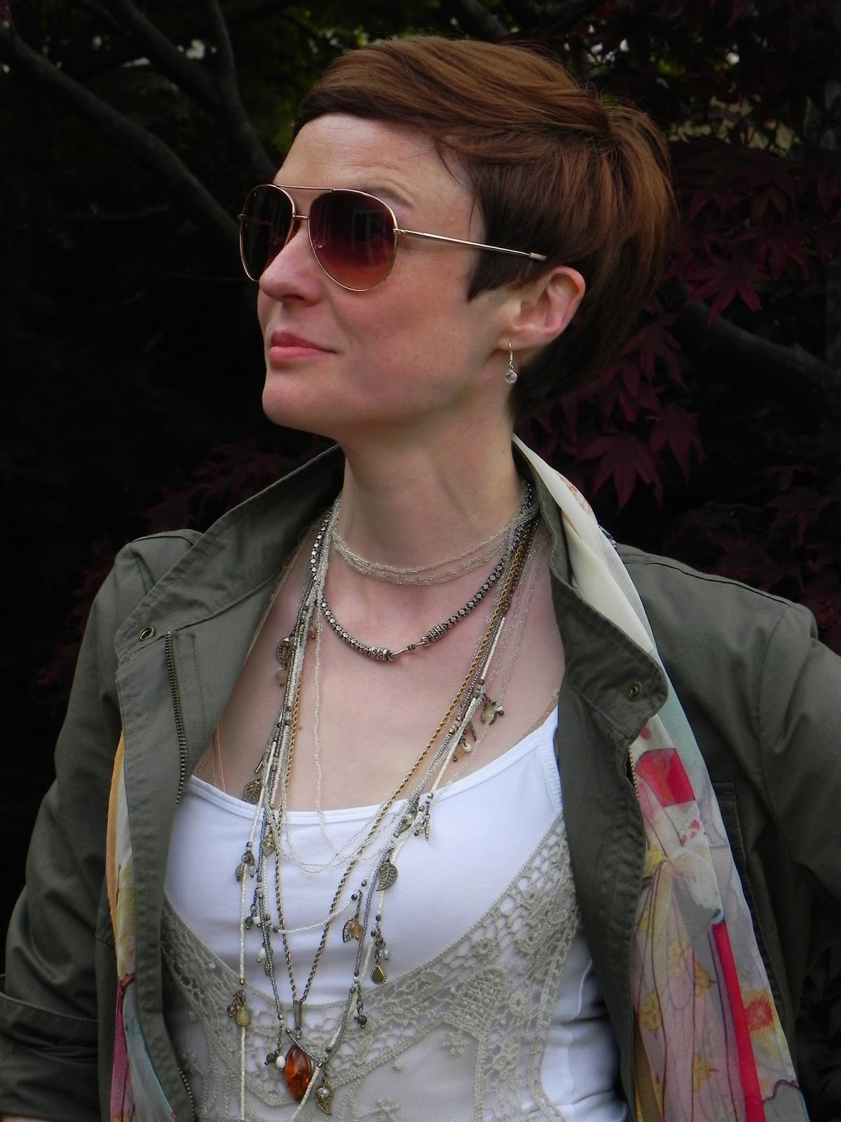 Aviators and layered necklaces