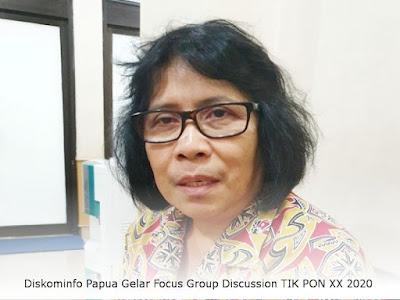 Diskominfo Papua Gelar Focus Group Discussion TIK PON XX 2020